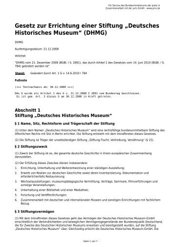 Gesetz 2010 [PDF] - Stiftung Flucht, Vertreibung, Versöhnung