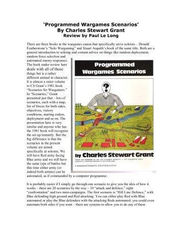 'Programmed Wargames Scenarios' By Charles ... - Lone Warrior Blog