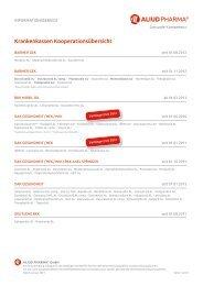 Krankenkassen Kooperationsübersicht - Aliud Pharma GmbH & Co ...