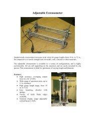 Laboratory Developed Adjustable Extensometer