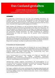 Cuxland gestalten - SPD im Landkreis Cuxhaven