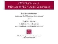 MIDI and MPEG-4 Audio Compression - Cardiff School of Computer ...