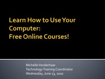 Learn How to Use Your Computer Free Online Courses!