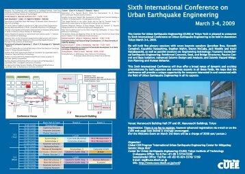 Sixth International Conference on Urban Earthquake Engineering