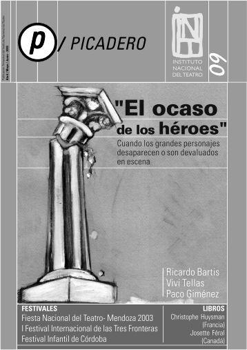 """""""El ocaso - Instituto Nacional del Teatro"""