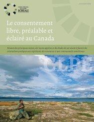 Le consentement libre, préalable et éclairé au Canada - Initiative ...