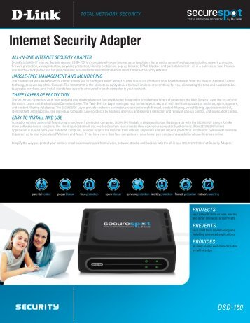 Internet Security Adapter - FTP - D-Link