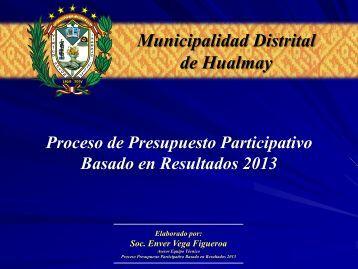 Proceso de Presupuesto Participativo Basado en Resultados 2013 ...