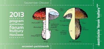 program Wrzesień - Październik 2013 - Austriackie Forum Kultury