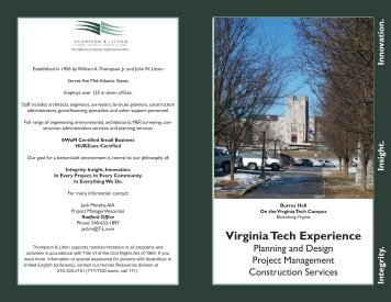 Virginia Tech Experience - Thompson & Litton