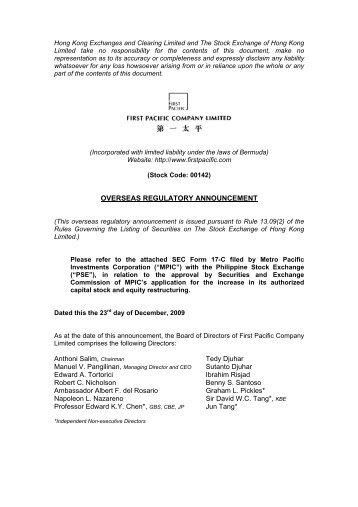 POPI SEC Form 17-C - Prime Orion Philippines, Inc.