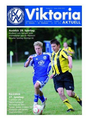 Stadionheft zum Spieltag - FV Viktoria Wasseralfingen