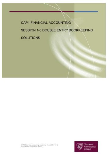 cap1 financial accounting session 1 5 double entry bookkeeping