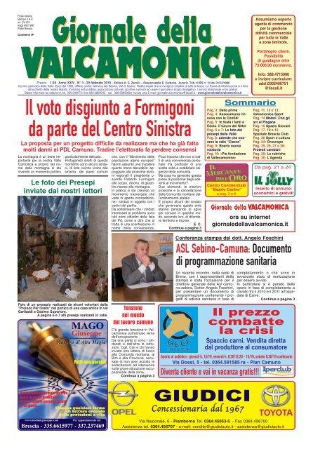 GdV N° 03 del 2010 Il Giornale della Valcamonica