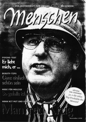 """Manfred Krug • Porträt/Titelgeschichte in """"Menschen"""" - FreaXpower.de"""