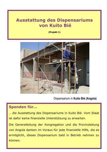 Projektvorschlag: Dispensarium in Kuito Bié (Angola)