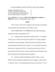 Order Amending Rule 11 - Delaware State Courts - State of Delaware