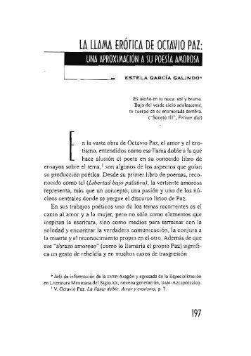 La llamada erótica de Octavio Paz - Si necesitas algún libro aqui lo ...
