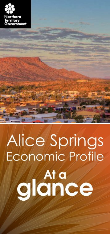 Alice Springs Economic Profile at a glance 2010 - Department of ...