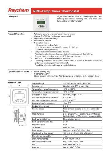 NRG-Temp Timer Thermostat