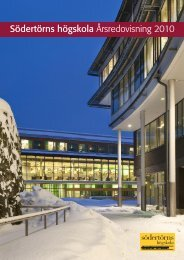 Södertörns högskola Årsredovisning 2010