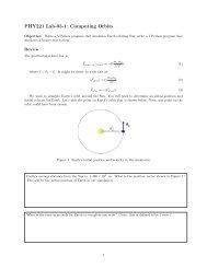 PHY221 Lab-03-1: Computing Orbits