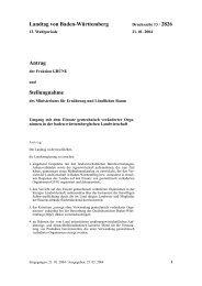 Anfrage der Grünen Landtagsfraktion mit Antwort - Die GAR ist
