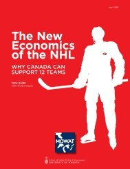 The New Economics of the NHL - The Mowat Centre for Policy ...
