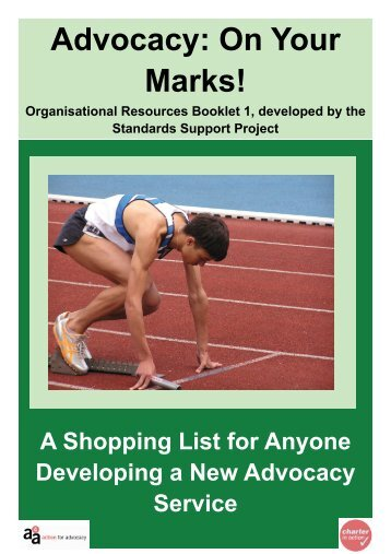 Advocacy: On Your Marks! - Support