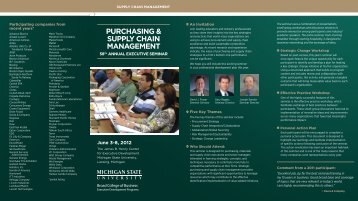purchasing & supply chain management - Executive Education
