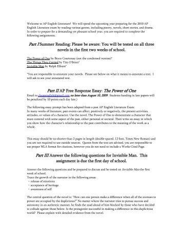 High School Persuasive Essay Ap English Lit Summer Reading  Black Pdf  Cresskill Public Schools Science And Society Essay also Good High School Essay Examples Renaissance Prose Reading Packet Pdf  Cafferys Ap English Personal Essay Examples High School