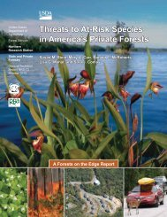 Threats to at-risk species in America's private forests. A forest on the ...