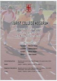 Thursday Sport 2 August - Marist College Kogarah