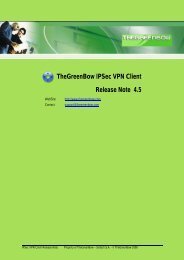 TheGreenBow VPN Client Release Note