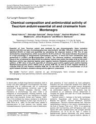 Chemical composition and antimicrobial activity of Teucrium arduini ...