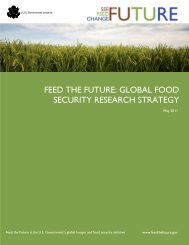 feed the future: global food security research strategy