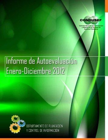 Informe de Autoevaluación Enero-Diciembre 2012 - Condusef