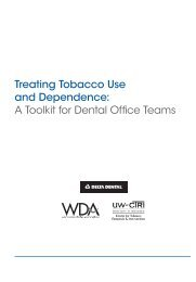Treating Tobacco Use and Dependence: A Toolkit for Dental Office ...