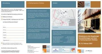 Zum Vortragsprogramm 2012 - Netzwerk Holzbau