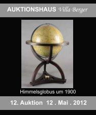 AUKTIONSHAUS Villa Berger 12. Auktion 12 . Mai . 2012