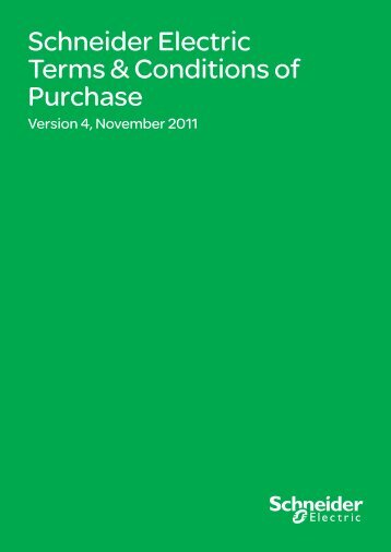 Schneider Electric New Zealand - Terms & Conditions of Purchase ...