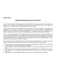 nota de prensa nº 29 junio 2011 cambios organizativos en la región 2