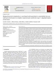 Biopsychosocial complexity is correlated with psychiatric ...