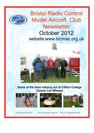 Bristol Radio Control Model Aircraft Club Newsletter October 2012