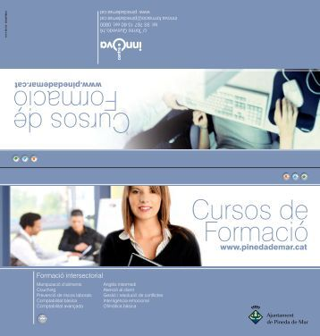 Cursos de Formació Cursos de Formació - Ajuntament de Pineda de ...