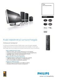 HTS6600/12 Philips DVD házimozirendszer - LCD és plazma TV ...