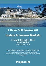 Update in Innerer Medizin Programm
