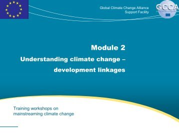 The develop - Global Climate Change Alliance