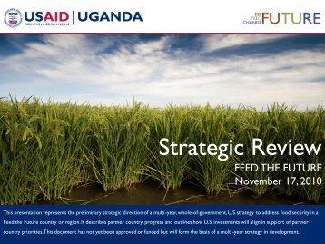 Uganda Feed The Future Strategic Review