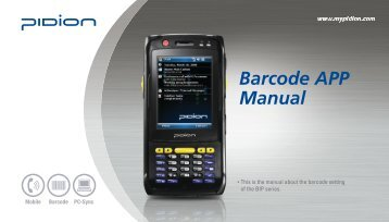 Bluebird Soft Barcode APP Manual 영문 (1201).pdf - SDG Systems